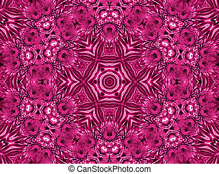 Flower abstract pattern - Abstract pattern with flower of...