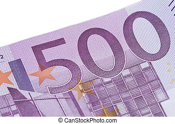 500 euro - Close-up of  five hundred euro banknote.