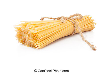 Pasta spaghetti - Italian pasta spaghetti isolated on white...