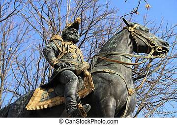 Statue of Charles dEste-Guelph duke of Brunswick 1804-1873...