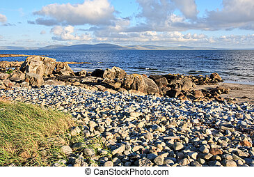 Galway Bay and The Burren - Galway Bay in Ireland with The...