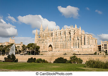 Cathedral of Palma de Mallorca - Exterior view of the...