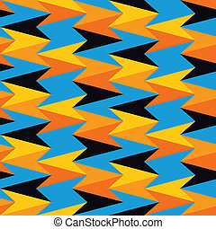 Abstract pattern colored