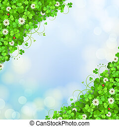 Background with clover