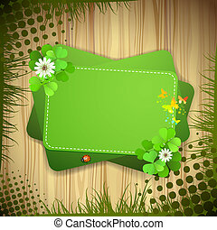 Green background with clover