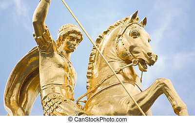 St George Statue - st george statue at Freedom square -...