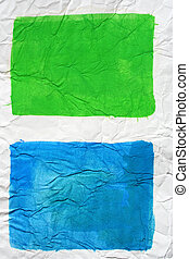 Blue and green colors painted paper - Blue and green colors...