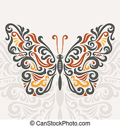 Abstract butterfly, vector illustration