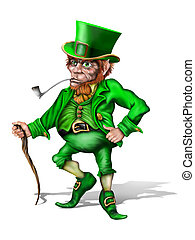 Cheeky Leprechaun - Illustration of an Irish leprechaun...