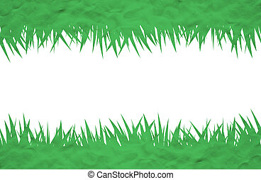Plasticine grass on white background