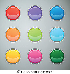Vector Web Buttons for Website or App - Vector Illustration...