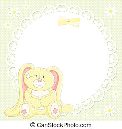 Vector background with cute bunny