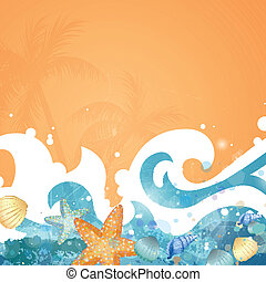 Vector Summer Background - Vector Illustration of an...