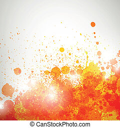 Vector Background with Blots - Vector Illustration of an...