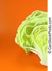 Green Iceberg lettuce - Fresh Green Iceberg lettuce on...