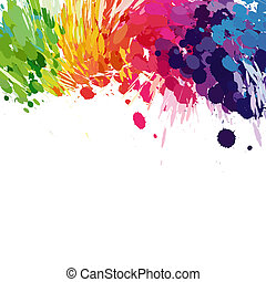 Abstract background of colored splashes blots - Abstract...