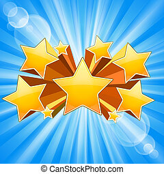 Star Burst Background - Abstract Star Burst Background with...