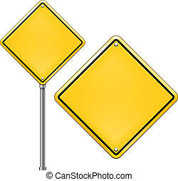 Vector Traffic Sign - Vector Blank Traffic Sign isolated on...