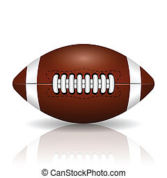 American football - Illustration of rugby ball on a white...