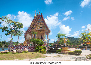 Temple of Wat Plai Laem, buddhist temple on Samui, Thailand