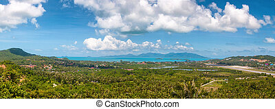 Tropic recreation shore - Tropic island Samui, sea Thailand...