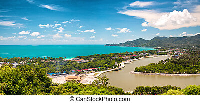 Tropic recreation shore - Tropic island Samui, sea and...
