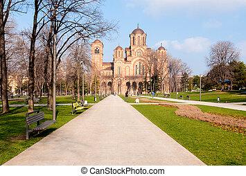 Tasmajdanski park - Park Tash in the Belgrade spring morning