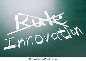Break the rule for innovation, conceptual words on...