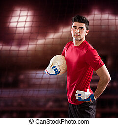 soccer goalkeeper - soccer or football goalkeeper on the...
