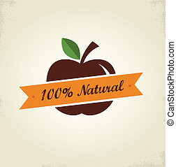 Organic food label, tag and graphi element - Organic food...
