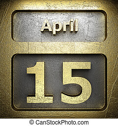 april 15 golden sign on silver