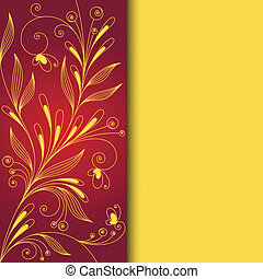 Floral pattern on red background Vector design