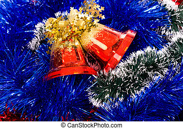 christmas background - the backdrop from christmas bells and...