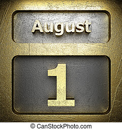 august 1 golden sign on silver