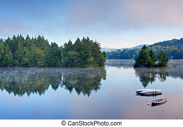 Mountain Lake in the Morning - A lake in the early morning...