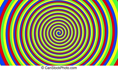 Spiral of colors - Colorful spiral spinning out