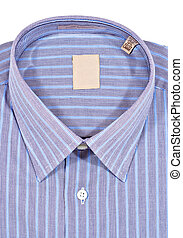 Dress Shirt - A folded pinstriped dress shirt