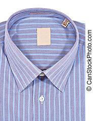 Dress Shirt - A folded pinstriped dress shirt