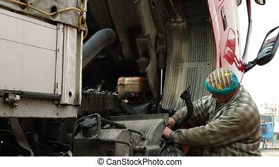 camión, reparación
