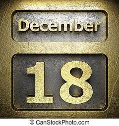 december 18 golden sign on silver