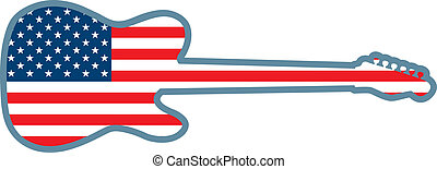 Guitar Shaped U.S. Flag - An American flag inside of the...