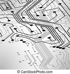 Circuit board vector background, technology illustration...