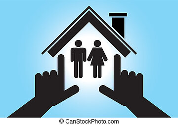 man and woman in the house