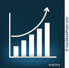 Business graph Vector illustration