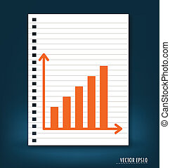 Business graph. Vector illustration.