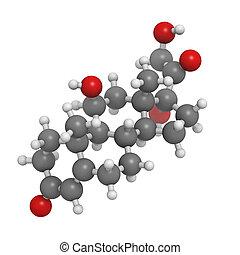 énfasis, molecular, cortisol, hormona, modelo,...