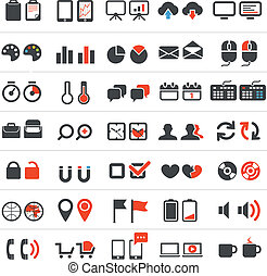 Web and business icons collection