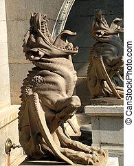 gargoyles. gothic sculpture