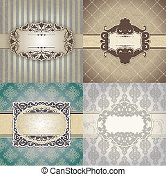 Set of Vintage frame - The vector image Set of Vintage frame