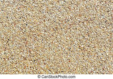 Rough gravel floor
